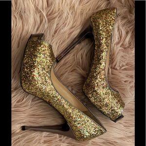 Guess Multi-Color Glitter Heels